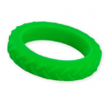 Tread Bangle (child) - 'Dino' (Bright Green) - Chewigem